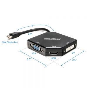 Mini Display Port to HDMI + VGA + DVI