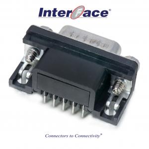 ICD1-MA09, D-Sub 9Pin Male PCB Mount Right Angle