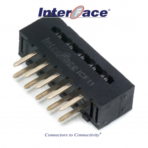 ICF11-010, 2mm 10Pin Transition Straight