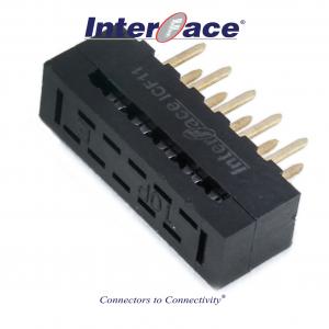 ICF11-010, 2mm 10Pin Transition Straight