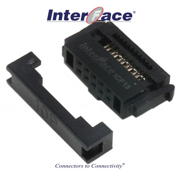 ICF13-10, 1.27mm 10pin IDC Socket