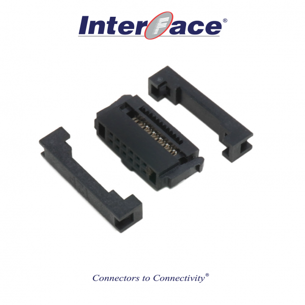 ICF13-12, 1.27mm 12pin IDC Socket