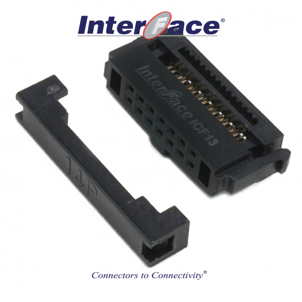 ICF13-14, 1.27mm 14pin IDC Socket