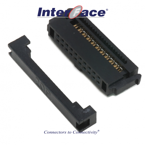 ICF13-20, 1.27mm 20pin IDC Socket