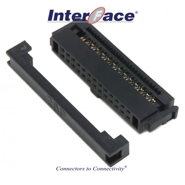 ICF13-26, 1.27mm 26pin IDC Socket