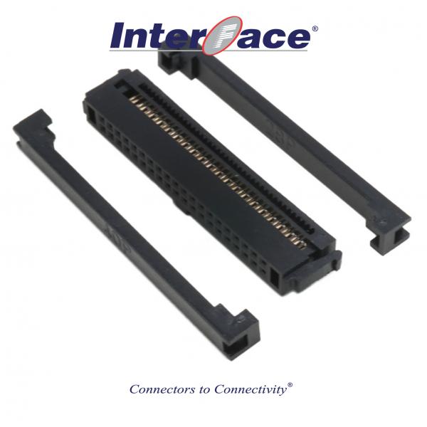 ICF13-40, 1.27mm 40pin IDC Socket