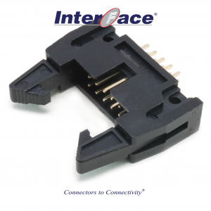 ICF3-10S, 2.54mm 10Pin Header Straight Fully Shrouded with Latch