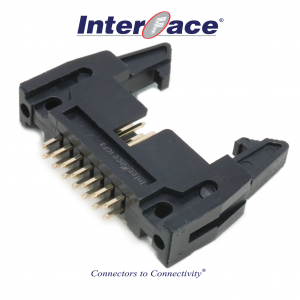 ICF3-14S, 2.54mm 14Pin Header Straight Fully Shrouded with Latch
