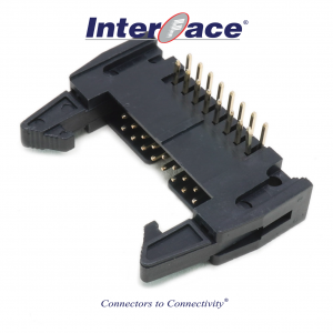 ICF3-16R, 2.54mm 16Pin Header Right Angle Fully Shrouded with Latch