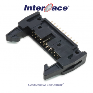 ICF3-20S, 2.54mm 20Pin Header Straight Fully Shrouded with Latch