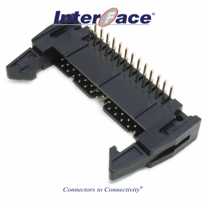 ICF3-26R, 2.54mm 26Pin Header Right Angle Fully Shrouded with Latch