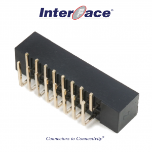 ICF9-016R, 2mm 16Pin Box Header Right Angle