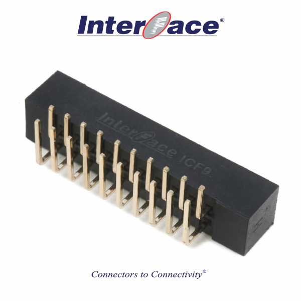 ICF9-020R, 2mm 20Pin Box Header Right Angle