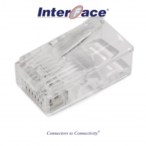 ICMP-88-01 RJ45 8P8C Plug Connectors, Gold Flash GF