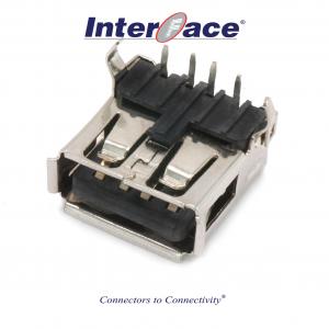 ICU1-FA-W, USB 2.0A Female PCB Right Angle