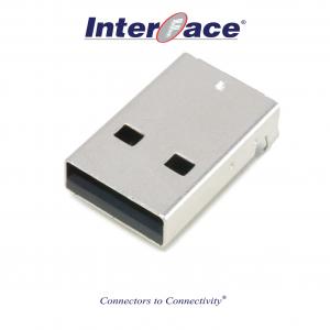 ICU1-MK, USB 2.0A Male SMT Straight