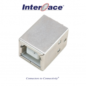 ICU2-F, USB 2.0B Female PCB Straight