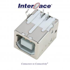 ICU2-FA, USB 2.0B Female PCB Right Angle