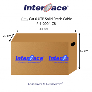 This is a Grey Cat6 UTP solid patch cable Box