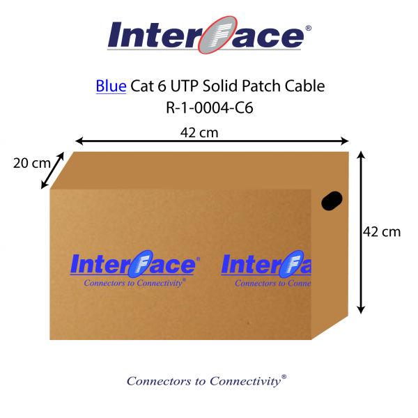 This is a Blue Cat6 UTP solid patch cable Box