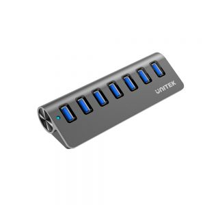 UT-111 Unitek USB3.0 7-Port Aluminium Hub sold by Interface Y-3187