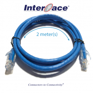 RCA-8030-02-BLU Cat6 UTP 24AWG Blue Unshielded Patch Cord 2 Meter(s)