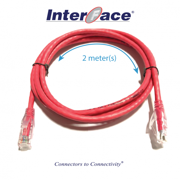 RCA-8030-02-RED Cat6 UTP 24AWG Red Unshielded Patch Cord 2 Meter(s)