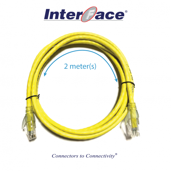 RCA-8030-02-YLW Cat6 UTP 24AWG Yellow Unshielded Patch Cord 2 Meter(s)