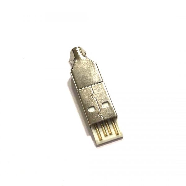 ICD1-MK-04A(1) USB 2.0A MALE SOLDER TYPE 30 MICRON CONNECTOR