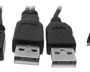 BPS111 BAFO USB2.0 Y Cable to Mini B