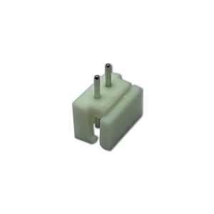 N-2250S02 2.5mm pitch single row 2 pin plug header straight, white